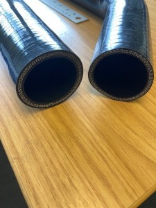 long silicone hoses end
